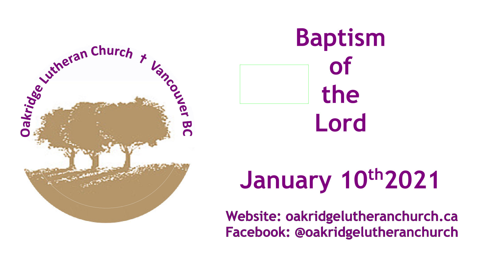 10 Jan 2021 Baptism of the Lord