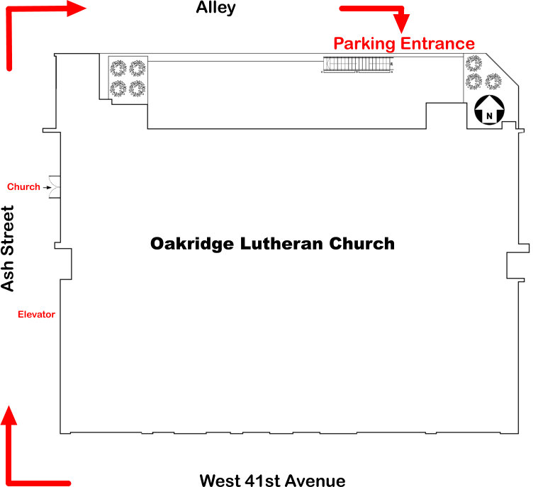 church parking map
